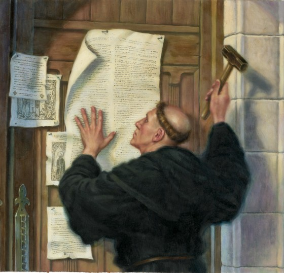 It Has Been Said That Martin Luther Started The Protestant Reformation By Nailing 95 Theses To Chapel Door At University Of Wittenberg